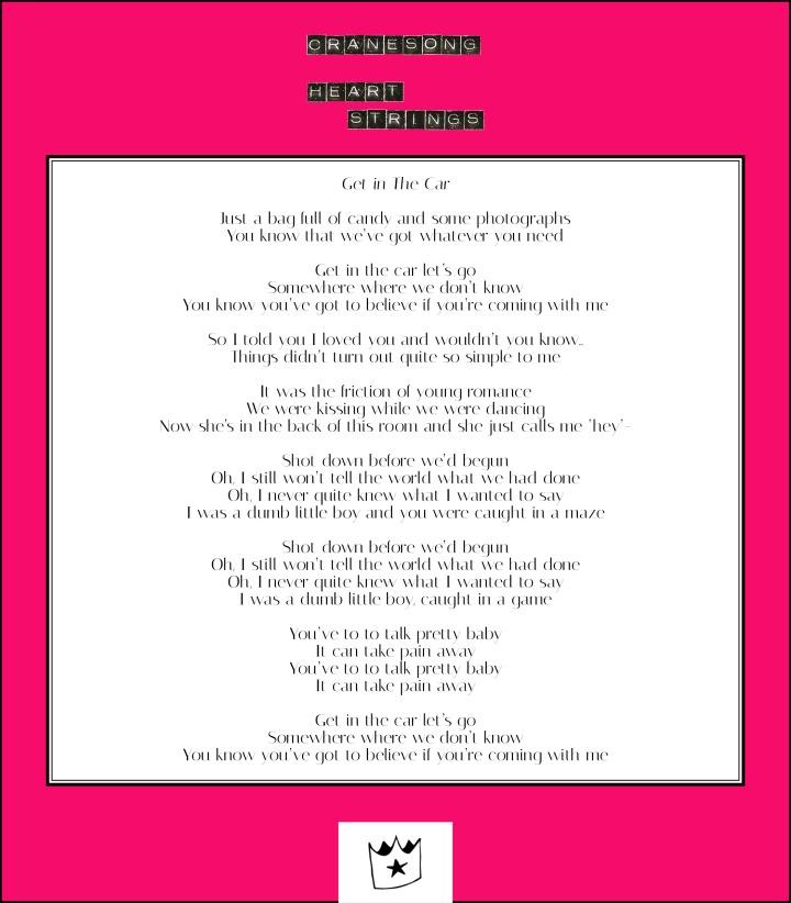 Lyrics – Crane Song